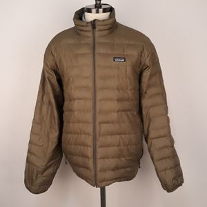 PATAGONIA Goosedown Green Puffer Sz L Mens Jacket